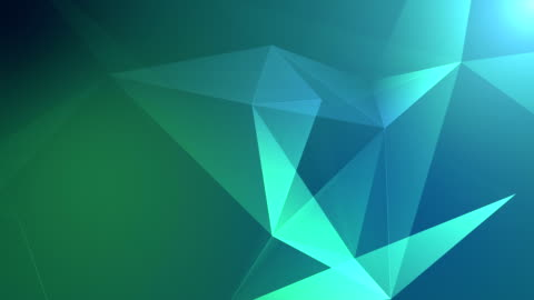 abstract geometric background seamless loop in green - triangle shape stock videos & royalty-free footage