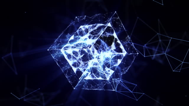 abstract geometric background - infographic stock videos & royalty-free footage