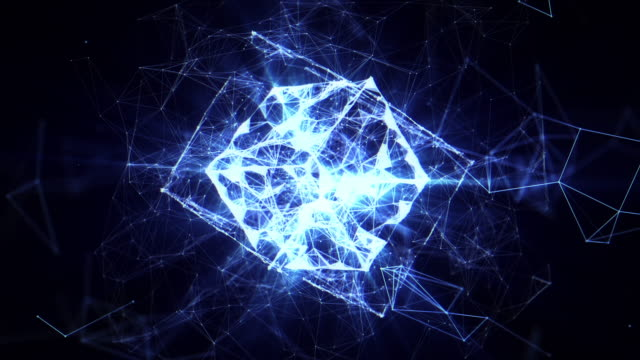 abstract geometric background - quantum physics stock videos & royalty-free footage