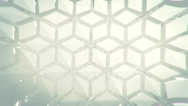 abstrakter geometrischer hintergrund - ordnung stock-videos und b-roll-filmmaterial