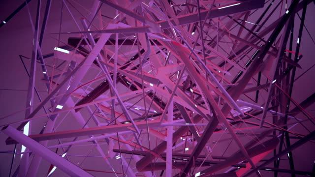 abstrakte geometrische hintergrund  - cube stock-videos und b-roll-filmmaterial