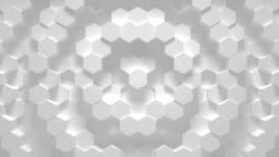 Abstract geometric hexagon loop - 3D animation