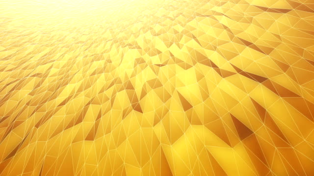 abstract geometric pattern background (gold / yellow) - loop - yellow background stock videos & royalty-free footage
