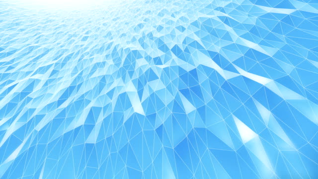 abstract geometric pattern background (light blue) - loop - light blue stock videos & royalty-free footage