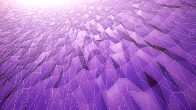 Abstract Geometric Pattern Background (Purple) - Loop