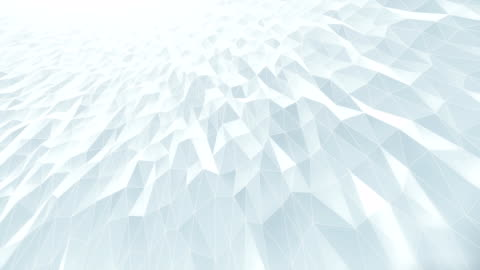 abstract geometric pattern background (white) - loop - triangle shape stock videos & royalty-free footage