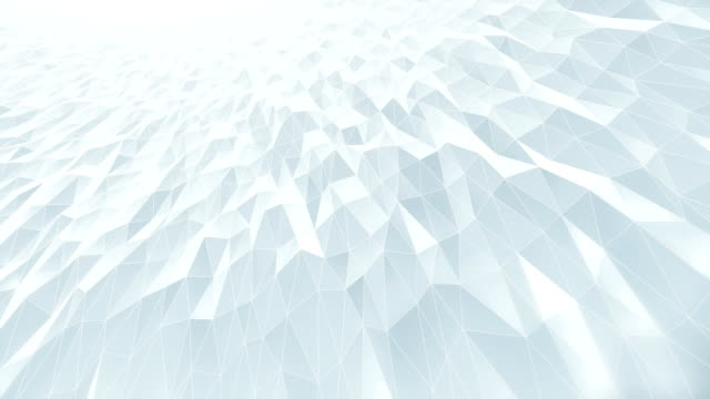 abstract geometric pattern background (white) - loop - diminishing perspective stock videos & royalty-free footage