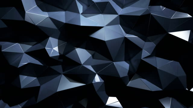 abstract geometric polygonal triangle 4k background - silver metal stock videos and b-roll footage