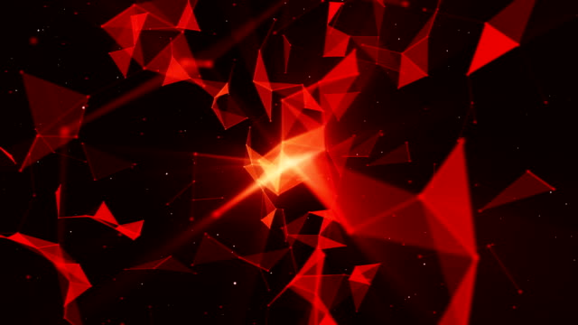 4k abstract geometric red background (loopable) - red stock videos & royalty-free footage