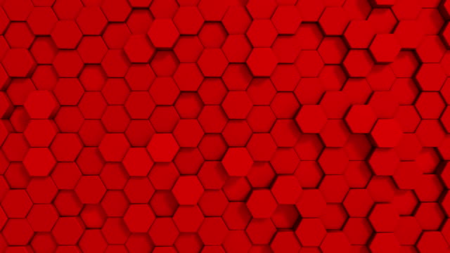 abstract geometric shape hexagon background loopable 4k - capital letter stock videos & royalty-free footage