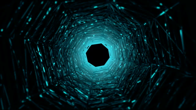 abstract geometric shape tunnel background - octagon stock videos and b-roll footage