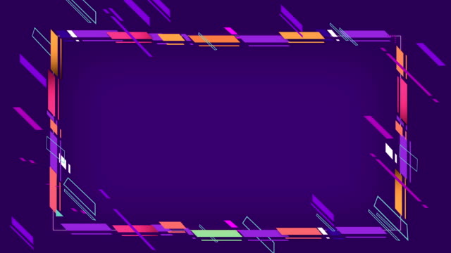 4k abstract geometric shapes frame loopable - construction frame stock videos & royalty-free footage