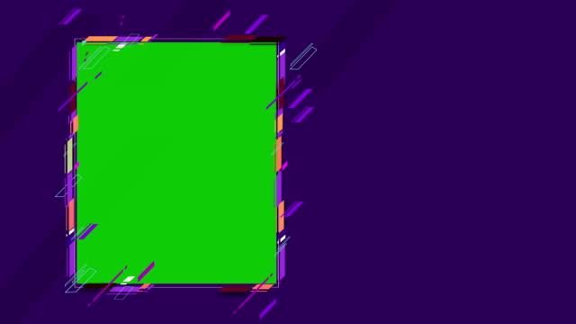 4k abstrakte geometrische formen rahmen loopable - balkengerüst stock-videos und b-roll-filmmaterial