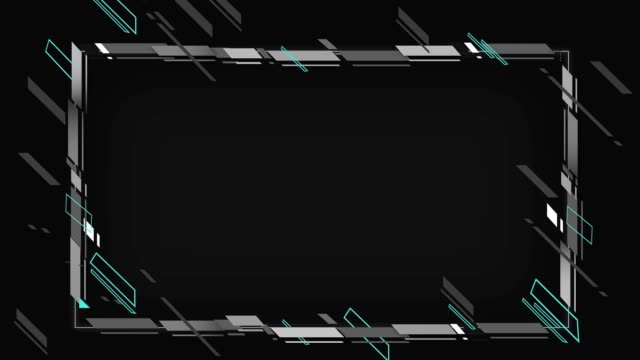 4k abstract geometric shapes frame loopable - matte stock videos & royalty-free footage