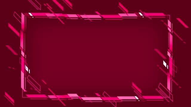 vídeos y material grabado en eventos de stock de 4k abstract geometric shapes frame loopable - marco