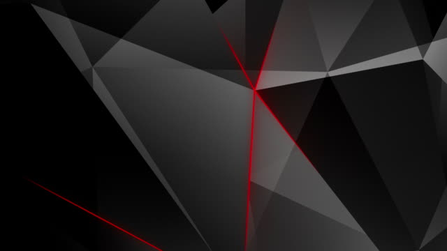 Abstract geometric triangle background. Loop.