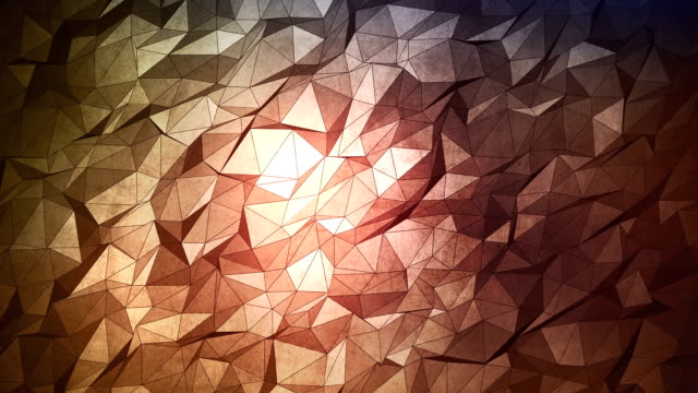 abstract geometric triangle background. seamless loop. - mosaic stock videos and b-roll footage