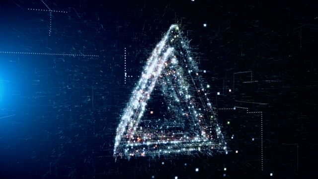 abstract geometric triangle background - square stock videos & royalty-free footage