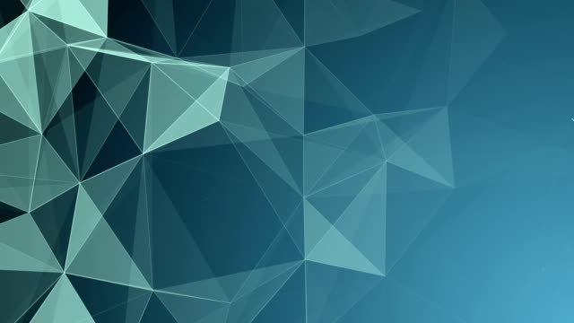 abstract geometric triangles background blue - plexus stock videos & royalty-free footage
