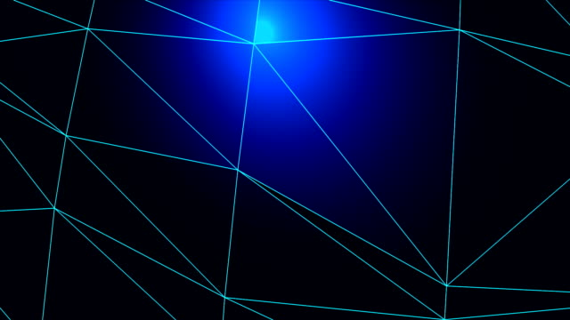 abstract geometric triangles background blue-hd - sharp stock videos and b-roll footage