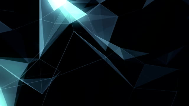 Abstract Geometric Triangles Background glow