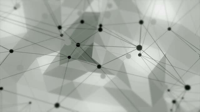 vídeos de stock, filmes e b-roll de loop de fundo abstrato triângulos geométricos - articulação facetária