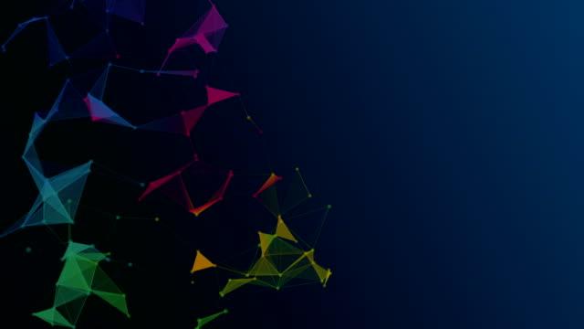 vídeos de stock, filmes e b-roll de fundo abstrato triângulos geométricos - articulação facetária