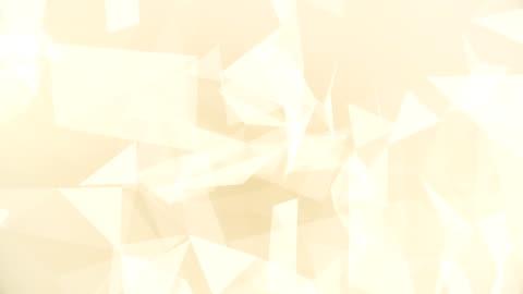 vídeos y material grabado en eventos de stock de triángulos abstractos geométrica (en bucle) - tostada
