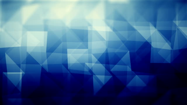 abstract geometric triangles (loopable) - blue background stock videos & royalty-free footage