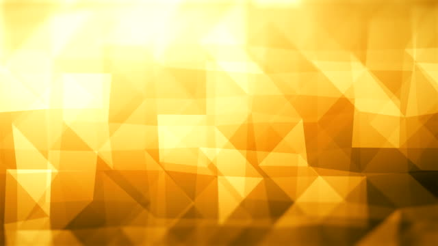 abstract geometric triangles (loopable) - yellow background stock videos & royalty-free footage