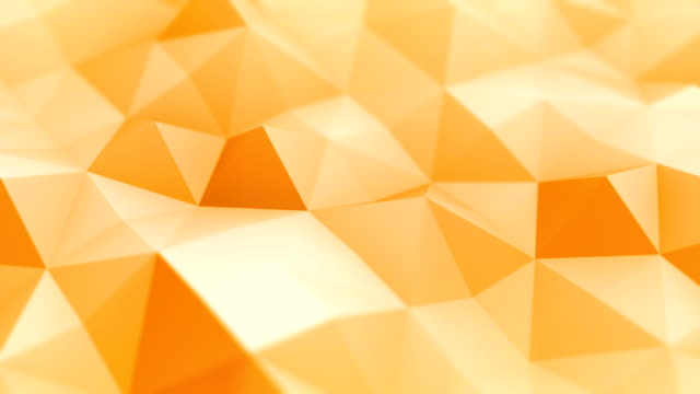 abstract geometric triangles (loopable) - orange stock videos & royalty-free footage