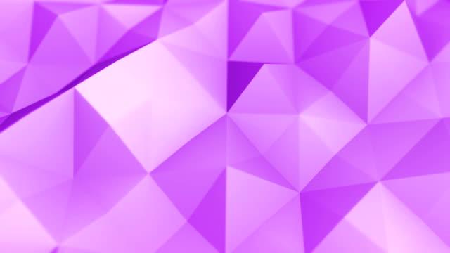 vídeos y material grabado en eventos de stock de triángulos abstractos geométrica (en bucle) - fondo púrpura