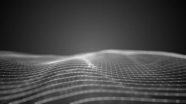 抽象的な幾何学的な三角形波の背景ループ可能 - 無限点の映像素材/bロール