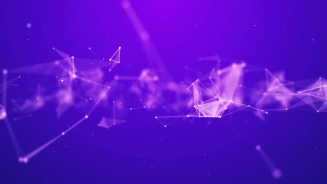 vídeos de stock, filmes e b-roll de fundo de conexão de rede de ondas de triângulos geométricos abstratos 4k - rombo