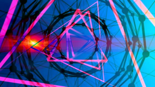 抽象的な幾何学の背景 - 歪んだ点の映像素材/bロール