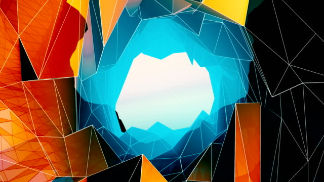 vídeos de stock, filmes e b-roll de abstrato geométrico fundo - articulação facetária