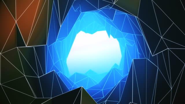vídeos de stock, filmes e b-roll de abstrato geométrico fundo - plexo