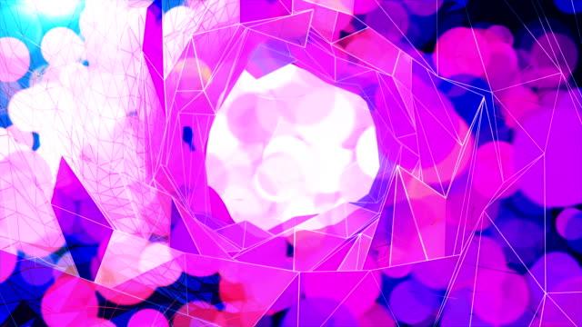 抽象的な幾何学の背景 - 歪曲点の映像素材/bロール