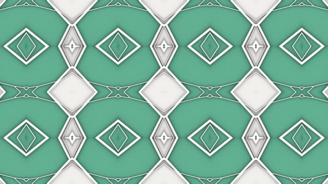 abstract geometrical motion graphics background. computer generated loop animation. green colored kaleidoscopic pattern. 3d rendering. 4k uhd - triangle shape stock videos & royalty-free footage