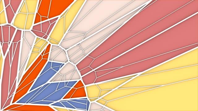 vídeos y material grabado en eventos de stock de abstracto fondo de gráficos de movimiento geométrico. animación de bucle generada por ordenador. patrón de triángulo multicolor. renderizado en 3d. 4k uhd - geometría