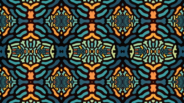 abstract geometrical motion graphics background. computer generated animation. blue colored kaleidoscopic pattern. 3d rendering. 4k uhd - music video stock videos & royalty-free footage