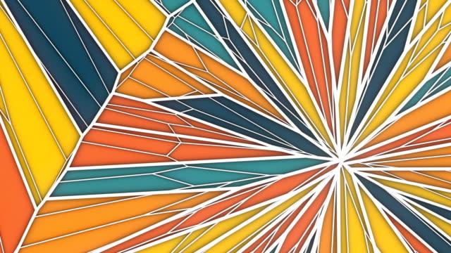 vídeos y material grabado en eventos de stock de fondo de gráficos de movimiento geométrico abstracto. animación de bucle generada por ordenador. patrón de triángulo multicolor. renderizado 3d. resolución hd. - mosaico