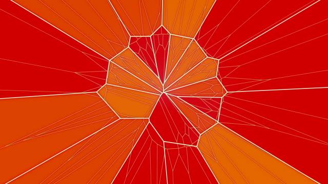vídeos y material grabado en eventos de stock de abstracto fondo de gráficos de movimiento geométrico. animación de patrón de triángulo multicolor. renderizado en 3d. 4k uhd - geometría