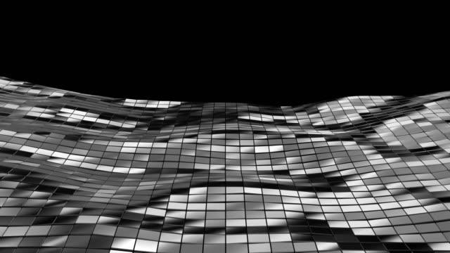 abstrakt geometri bakgrund - havets vågor på metallytan. 4 k-upplösning. - sea robin bildbanksvideor och videomaterial från bakom kulisserna