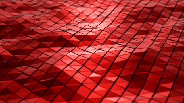 abstrakt geometri bakgrund - havsvågor på metallyta. 4k upplösning. - sea robin bildbanksvideor och videomaterial från bakom kulisserna