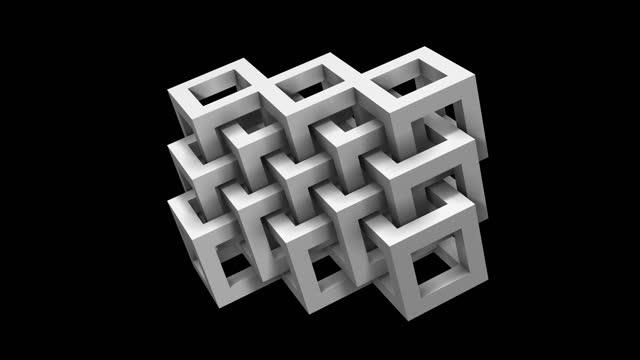 vídeos y material grabado en eventos de stock de fondo de geometría abstracta (bucle 4k) - malla alámbrica