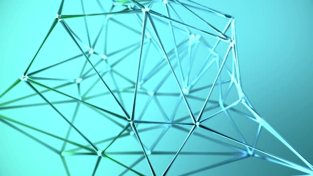 Abstract glass geometric network background Blue