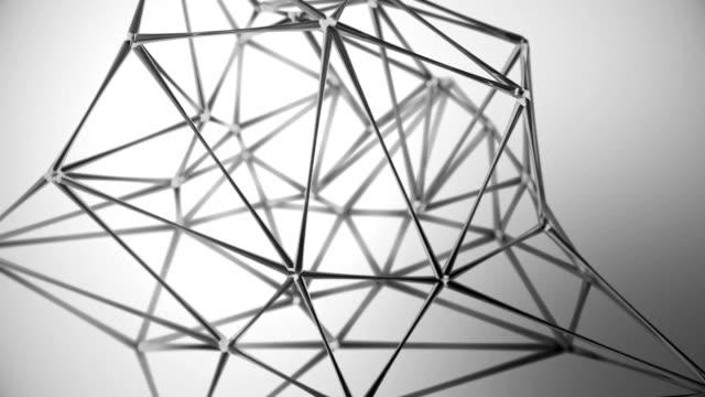 abstrakte glas geometrischen netzwerk hintergrund einfarbig - informationsmedium stock-videos und b-roll-filmmaterial