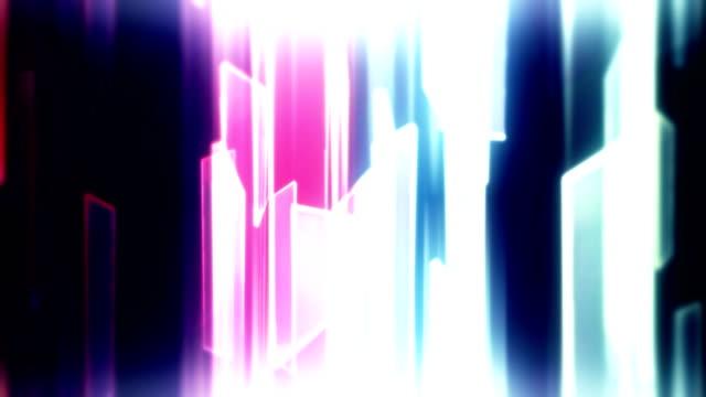 stockvideo's en b-roll-footage met abstracte glazen vormen met reflecties lus achtergrond - flits