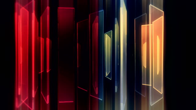 abstract glass shapes with reflections loop background - bright stock videos & royalty-free footage